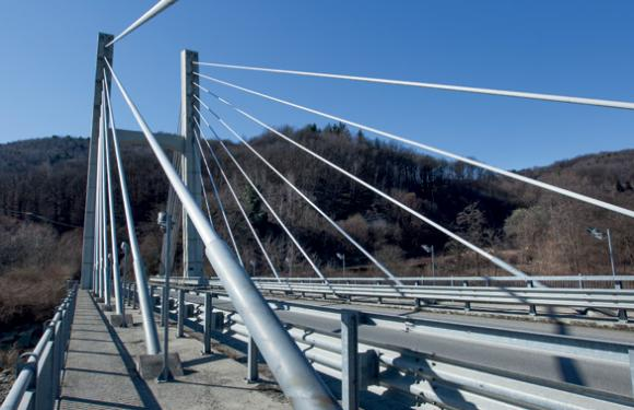 16. Cable Stayed bridge over the Sangone river, Giaveno (Italy)