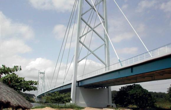 17. Cable Stayed bridge over the Kwanza river, Barra do Kwanza (Angola)